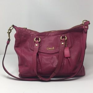 Coach Ashley Magenta Purse No F20104